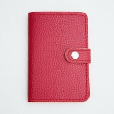 XMAS RED PASSPORT HOLDER COVER CASE WALLET TRAVEL ACCESSORY COLOR TRIP JOURNEY