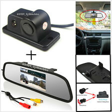 Car Reverse Parking Rearview Mirror Display Monitor+Camera & Radar Alarm Sensor