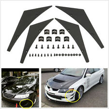 Universal Fit voiture pare-chocs avant Splitter nageoires corps spoiler Canards Valence Chin