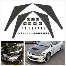 Universal Fit Car Front Bumper Splitter Fins Body Spoiler Canards Valence Chin