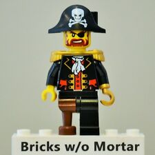 New Genuine LEGO Captain Brickbeard Pirate Minifig Pirates 6242 6243