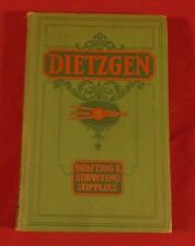 Clean Dietzgen 1931 Drafting & Surveying Supplies Catalog and Price List 520 pgs