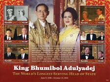 Tuvalu 2017 MNH King Bhumibol Adulyadej Queen Elizabeth II Putin 6v M/S Stamps