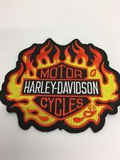 Harley Davidson Logo Negro, amarillo y naranja-Motocicleta/BIKER PARCHE BORDADO