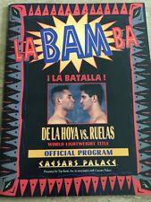 Vintage 1995 Oscar De La Hoya vs Rafael Ruelas Boxing Program