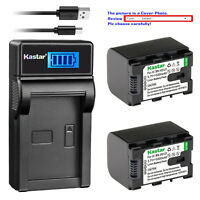 Kastar Battery LCD Charger for JVC BN-VG121U JVC Everio GZ-HM880 Everio GZ-HM890