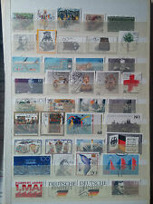P674.  ALLEMAGNE. 2 PAGES TIMBRES OBLITERES