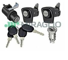 KIT SERRATURE PORTE DX SX + COFANO + CILINDRETTO + 4 CHIAVI FIAT PANDA