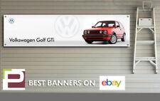 Mk2 Volkswagen Golf GTi Banner for Garage, Workshop, Office, Man Cave etc