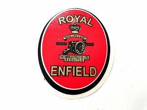 Royal Enfield Aufkleber  R E Rot / Gold