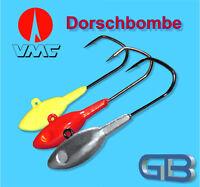 5 x Meeresjig Dorschbombe 14g, 18g, 21g,25g Jig Bleikopf VMC Barbarian 5150 BN
