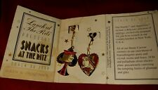 VINTAGE LUNCH AT THE RITZ JACK OF CLUBS QUEEN OF HEARTS EARRINGS Playing Cards