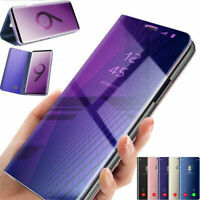 For Samsung Galaxy S9 / S9 Plus Smart Clear View Mirror Flip Leather Case Cover