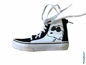 Vans Boys Girls Kids Toddler Snoopy Peanuts Hightops tennis shoes sneakers 11