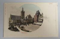 TRIER Mosel ~1900 Partie am Hauptmarkt mit Verkaufsständen alte Ansichtskarte
