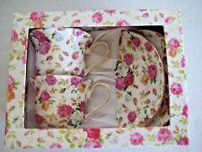 Grace Tea Ware Cup and Saucer 2 Piece Set Various Color Roses Original Box