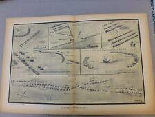Marine:Gravure navale:Flotte Chrétienne,Turque,Vaisseau ECNOME 257 avant J.C