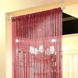 Topixdeals - Rare Flat Silver Ribbon - Door String Curtain Thread Fringe Window