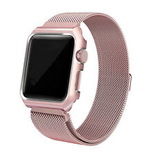 Magnetic Milanese Wrist Iwatch Band + Protective Case Cover for Apple Watch 2/1