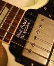 Gibson SG Guitar Tenon Cover Plate - Les Paul '61 Reissue - 2 ply Black/White