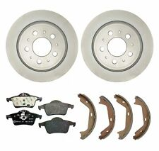 Genuine Rear Brake Kit Disc Rotors Pads and Shoes For Volvo S60 S80 V70 XC70