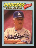 2018 Topps Archives Blue Border SSP Tommy Lasorda 16/25 - Dodgers