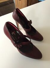 Ladies Pied A Terre Maroon Shoes Size 40