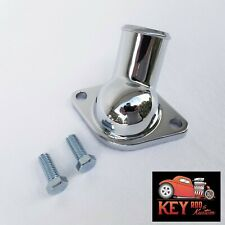45 Degree Chrome Steel Water Neck Thermostat Housing Small Big Block Chevy 350