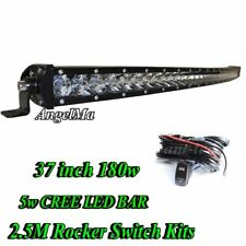 37Inch 180w CREE Curved LED Light Bar Combo Offroad 4WD Boat Lamps + Wiring Kits
