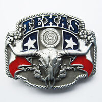 Texas Longhorn State Flag Belt Buckle Gurtelschnalle Boucle de ceinture
