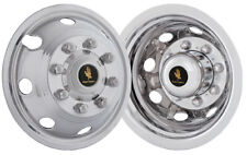 """17""""  Chevy Gmc 3500 Dually Wheel Simulators Hubcaps 2008-2020 snap on stainless"""