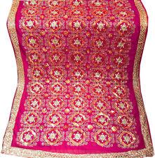 Deep Pink Bollywood Sequin Embroidery Sari Saree Costume Indian danse du ventre