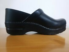 Dansko Professional Black Box Women's Leather Clogs  - NEW - Size EU 38