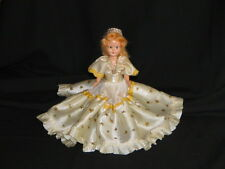 "Doll 7"" Dresser Plastic Molded Arts Co Blonde Sleep eyes Cream Sparkle Stars dre"