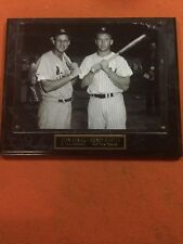 Stan Musial And Mickey Mantle Plaque