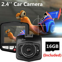 2.4'' Dash Cam 170° HD Car DVR Camera Video Camcorder Night Vision With SD Card