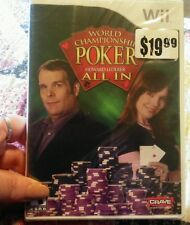 World Championship Poker All In - Nintendo Wii Game ***  NEW