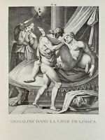 Carracci Erotic Vagina Penis Art Antike Valeria Messalina Nymphomany Lithography