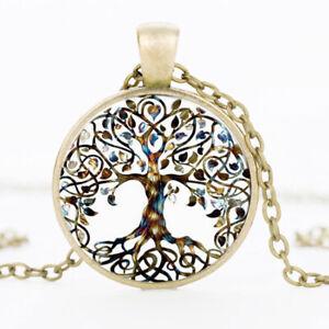 Halskette Anhänger Baum des Lebens Amulett Glücksbringer bronze Geschenkidee