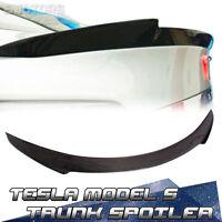 90D P85D Carbon Fiber For Tesla Model S 4DR V Stlye Trunk Spoiler Wing 2016