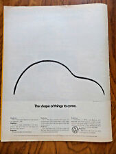 1972 VW Volkswagen Bug Ad  The Shape of Things to Come