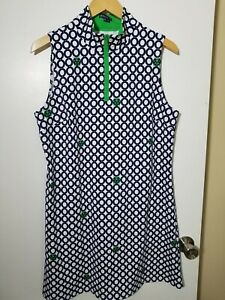 1 NWT MELLY M WOMEN'S DRESS, SIZE: X-LARGE, COLOR: NAVY/WHITE/GREEN (J114)