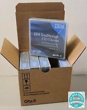 NEW - IBM, LTO-6 Tape Media, P/N 00V7590 (Qty. 5 Piece)