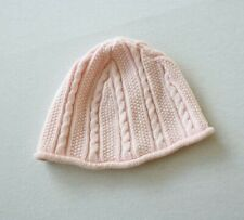 Hanna Andersson Baby Pink Cable Knit Warm Hat Spring XS (3-12 Months)