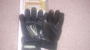 NEW KARAKAL GAA GLOVES SIZE S  GAELIC SPORTS GLOVE  GREEN / SLIME/ BLACK