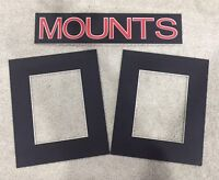 Pack of 10 Photo , Picture Mount , Frame Mounts - Various Sizes - Black