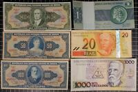 BRASIL Bank Note lot of 6 World Foreign World Currency Latin America Cruzeiro