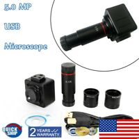 CMOS Digital Camera 5MP Electronic Eyepiece HD USB Microscope Accessory US STOCK