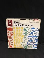"""100 Piece Cookie Cutter Set Baker's Advantage by Roshco Sizes 2"""" 3"""" 4"""""""