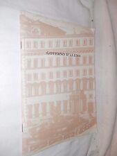 GOVERNO D'ALEMA AA VV Istituto Poligrafico Zecco dello Stato 1999 libro di per